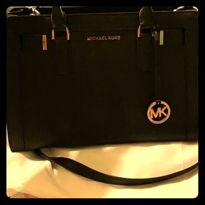 Michael Kors Black Satch Bag